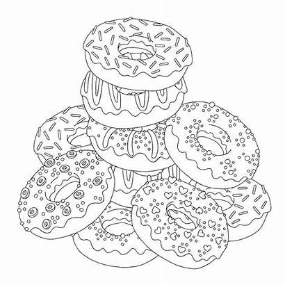 Coloring Donut Homer Simpson Popular Easy Pages