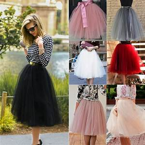 Tuto Tutu Tulle : women girls princess ballet tulle tutu skirt wedding prom rockabilly mini dress ebay ~ Melissatoandfro.com Idées de Décoration
