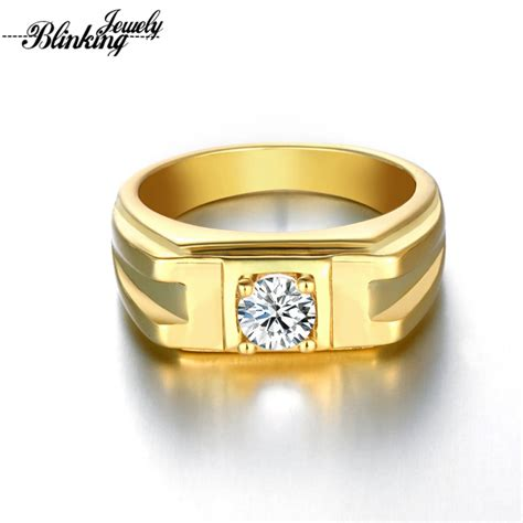 mens ring  gold plated rings  men  brilliant