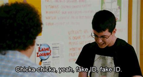 Superbad Meme - chicka chicka yeah fake id fake id funny