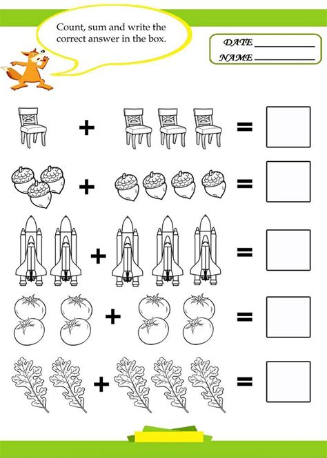 pictures  math worksheets kids math worksheets