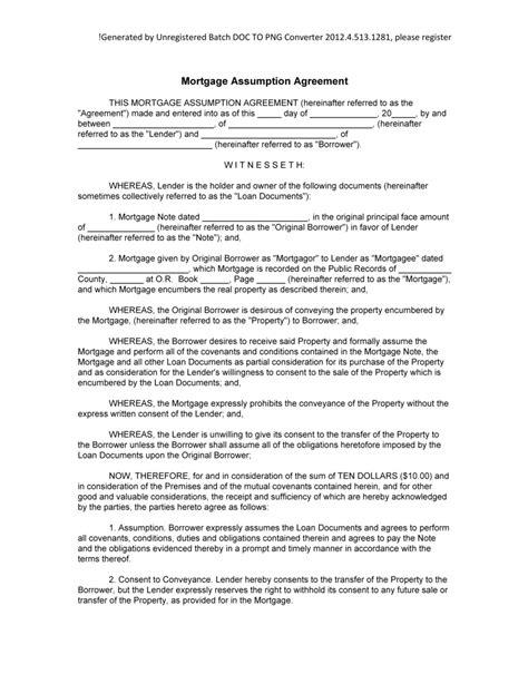loan assumption agreement form au
