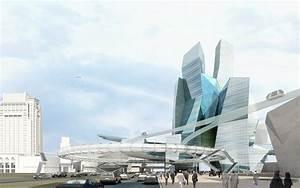 Modern cityscape with futuristic building 3D Model MAX ...
