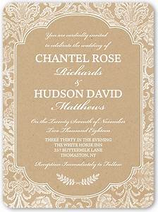 Kraft damask 6x8 wedding invitations shutterfly for 6x8 wedding invitations
