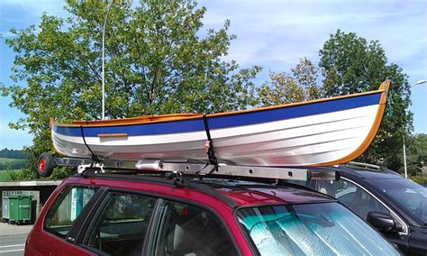 Row Boat Roof Rack by Car Topping Ladder Loader