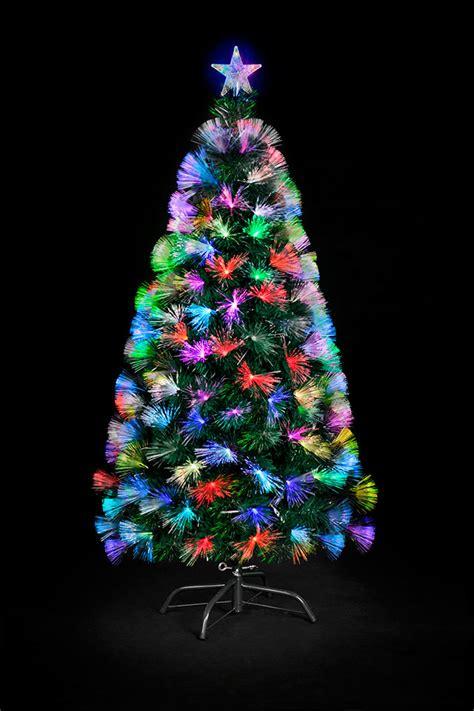 trees and lights 3ft fibre optic colour burst tree supplier cheap e deals
