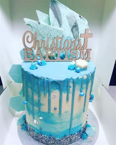 christening drip cake  cake central awesome cakes