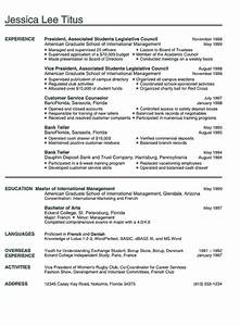 college resume example sample business and marketing With college student resume examples