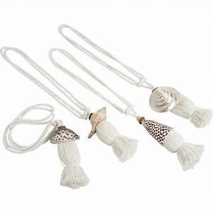 Embrasse Pour Rideaux : embrasse rideau en coton et coquillage dma1050 aubry gaspard ~ Teatrodelosmanantiales.com Idées de Décoration