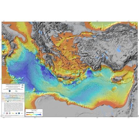 morpho bathymetry   eastern mediterranean sea ccgm