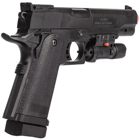 UK Arms P2001B Spring Airsoft Pistol w/ Laser - BLACK ...