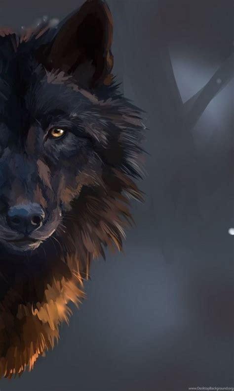staring black wolf wallpapers digital wallpapers