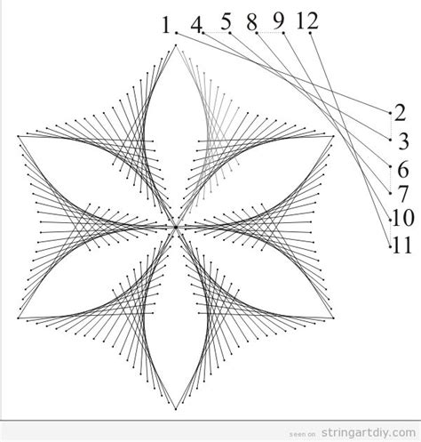 string art templates flower string diy learn to make your own string project with us