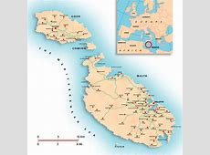Large Malta Island Maps for Free Download and Print High