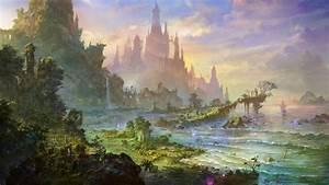 castle, , building, , artwork, , art, , landscape, wallpapers, hd, , , , desktop, and, mobile, backgrounds