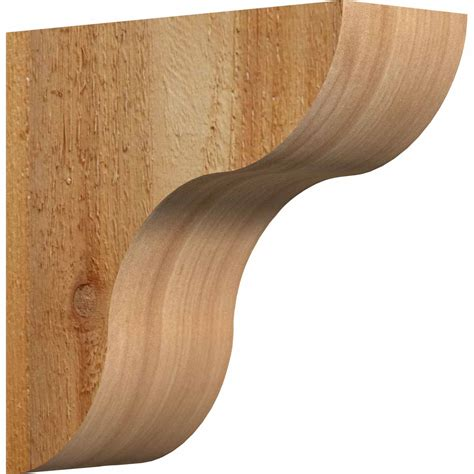 Wooden Corbel by Ekena Millwork Corcar00 Rustic Timber Wood Corbel