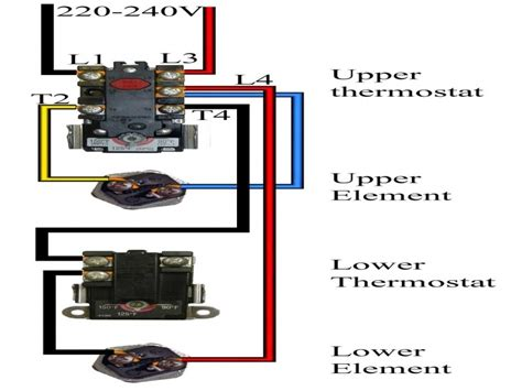 electric water heater wiring diagram for 240v wiring
