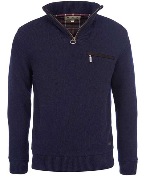 zip sweater mens barbour mens ayton half zip jumper navy