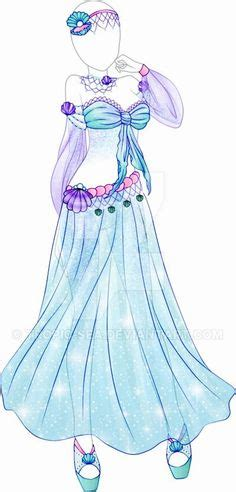Experiment with deviantart's own digital drawing tools. Green and blue summer dress sketch   Fashion Sketches in ...