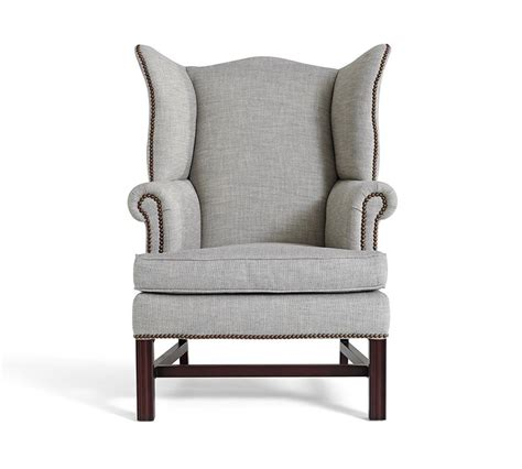 Affordable Wing Chair by Thatcher Upholstered Wingback Chair Pottery Barn Au