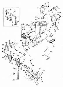 Mercury Force 125 H P  1987  Motor Leg