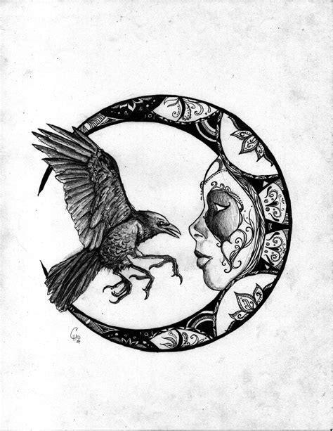 Pin by David Thounhurst on crows and ravens | Little bird tattoos, Night tattoo, Moon art