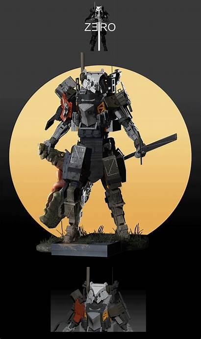 Knight Zero Deviantart Sttheo Armor Futuristic Mecha