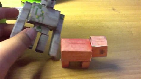 minecraft papercraft review  pig  chest youtube