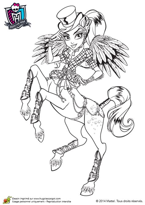 Coloriage De Monster High, Avea Trotter