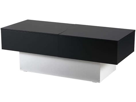 table basse bar noir table basse city box coloris noir blanc vente de table basse conforama