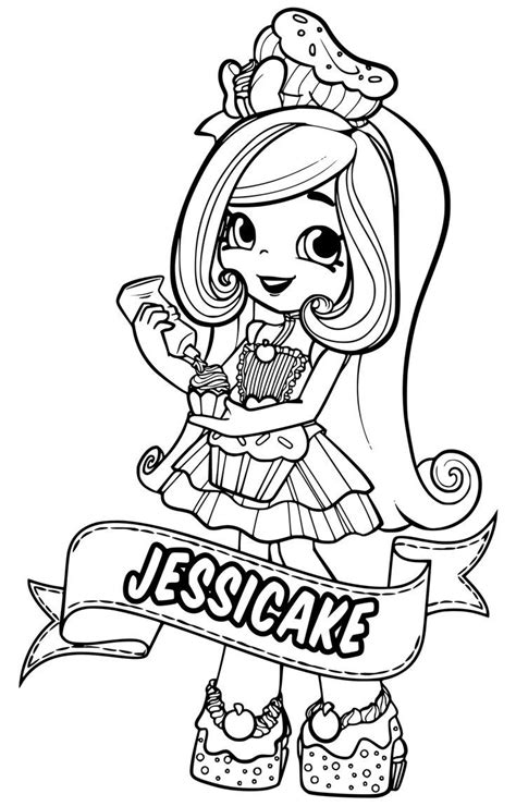 Shoppies Coloring Pages Shopkin coloring pages Coloring