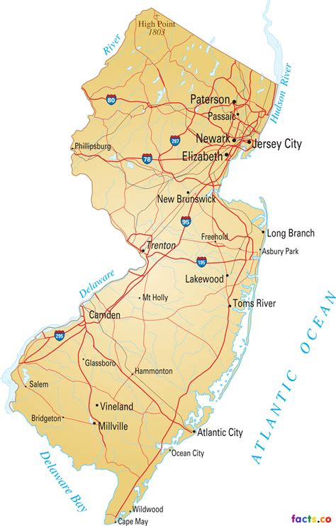detailed map   jersey  travel information