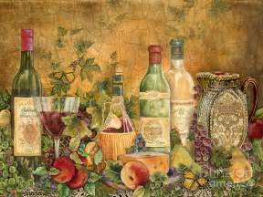 tuscan wine treasures painting by jean plout