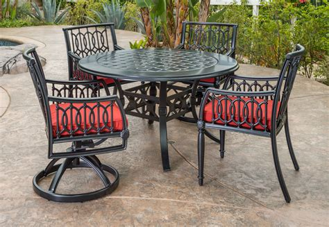 manhattan dining collection cast aluminum the great escape