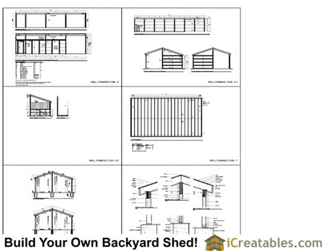 bay shed plans section sheds