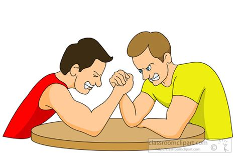 Arm Wrestling Clipart