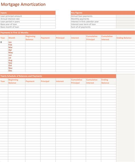 mortgage amortization table excel 5 plus amortization schedule calculators for excel