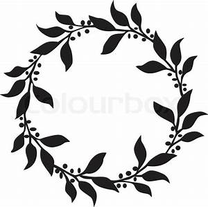 Circle of leaves Stock Vector Colourbox