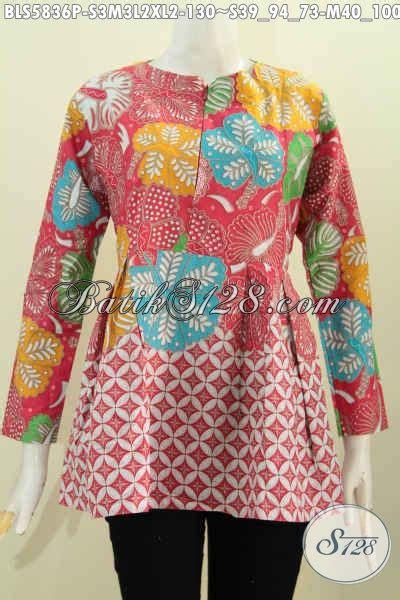 pakaian blus batik trend terkini baju batik jawa tengah
