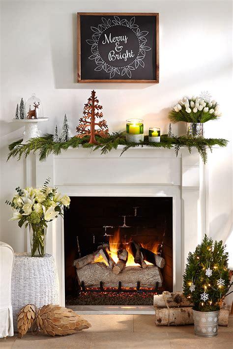 merry mantel  pine cuttings  christmas tree decoratio