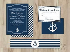 diy nautical wedding invitation suite by leslieestationery With nautical wedding invitations with photo