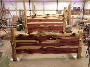 Rustic Cedar Bed Paul's interests Pinterest Rustic