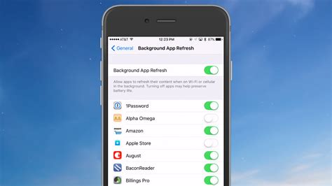 refresh my phone save iphone battery by disabling background app refresh