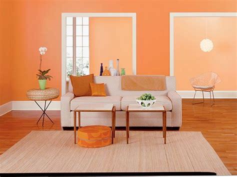 Farbideen Für Orange Wandgestaltung