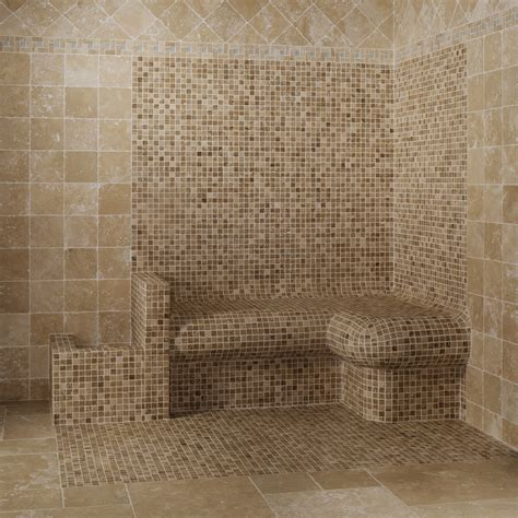 carreaux mosaique salle de bain mosa 239 que travertin bicolor marron indoor by