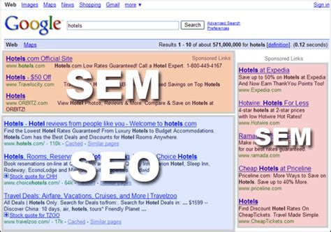 seo definition in marketing seo vs sem what is the difference