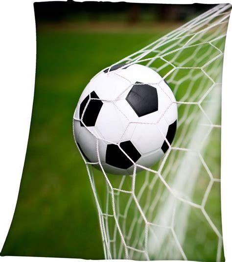 Es ist der volkssport in deutschland: Kinderdecke »Fußball im Netz«, Herding Young Collection ...
