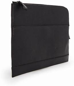 mango faux leather zip document holder in black for men lyst With leather document holder zip