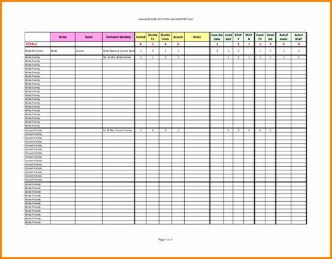 12 rsvp list template excel exceltemplates exceltemplates