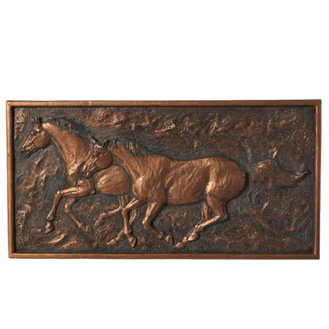 Every single metal wall art includes an exclusive characteristics and style in which pull art lovers into the variety. Antique Bronze Running Horse Wall Art Resin Wall-door Decor